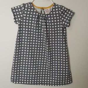 Hanna Andersson Checkered Shirt Dress Grey 120